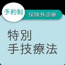 予約制 保険外診療 特別手技療法